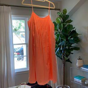 J. Crew Coral Spaghetti Strap Dress, Size 12